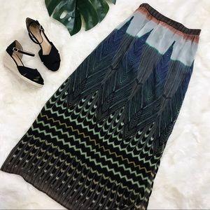 ANTHROPOLOGIE bohemian tribal maxi skirt